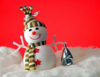 Snowball with gifts Royalty Free Stock Photo