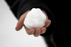 Snowball in the hand Stock Image