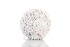 Snowball isolated over white background Royalty Free Stock Photo