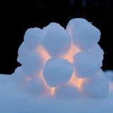 Snowball lantern Royalty Free Stock Photo