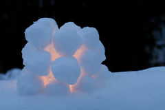 Snowball lantern Stock Images