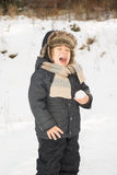 Snowball's too cold! Royalty Free Stock Photography
