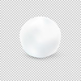 Snowball  On Transparent Background. Vector Illustration. Snowball  On Transparent Background Royalty Free Stock Photos