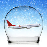 Snowball travel concept Stock Photography
