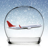 Snowball travel concept Royalty Free Stock Photography