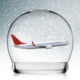 Snowball travel concept Royalty Free Stock Photos