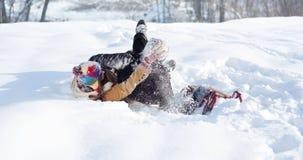 Snowball walka! Obrazy Royalty Free