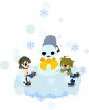 Snowball walka Zdjęcia Royalty Free