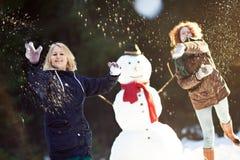 Snowball walka Obrazy Stock