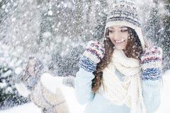 Snowball walka Fotografia Stock
