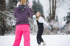 Snowball walka Fotografia Royalty Free