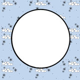 Snowball Winter Background Royalty Free Stock Photography