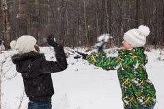 Snowballs игры Стоковая Фотография RF