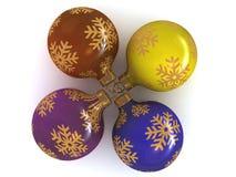 snowballs рождества шариков Стоковая Фотография RF