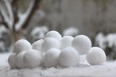 Snowballs Stock Photo