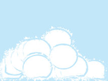 Snowballs. Vector illustration displaying mound of abstract snowballs Stock Image