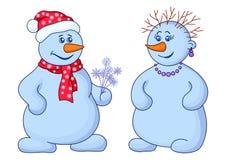 Snowballs com ramalhete ilustração royalty free