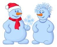 Snowballs com ramalhete do Natal ilustração stock