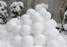 Snowballs Royalty Free Stock Image