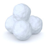Snowballs heap Stock Image