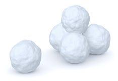 Snowballs usypują i jeden snowball Zdjęcia Stock