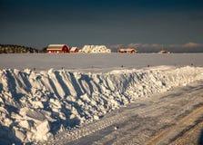 Snowbank Stock Photo