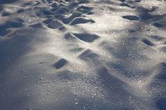 Snowbanks Royalty Free Stock Photography