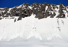 Snowberg royaltyfria bilder