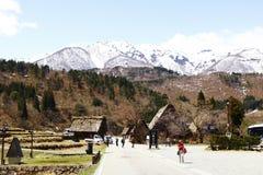 Snowberg historyczną wioskę który obejmuje Iść fotografia royalty free