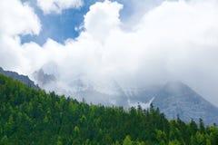 Snowberg scenery Stock Photo