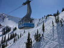 Snowbird mountain resort. Tram at Snowbird mountain resort royalty free stock photography