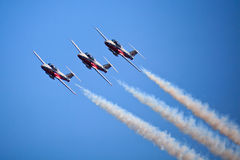 SnowBirds Canada à l'exposition 2009 de l'air 2009 de Toronto Photos stock