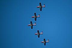 Snowbirds-Demonstrations-Team in der Anordnung Stockbild