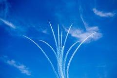 Snowbirds - Kanadyjscy 431 sił demonstraci Lotnicza eskadra obrazy royalty free