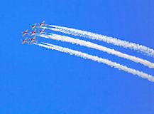 Snowbirds team at the Air Show at Gatineau Stock Photos
