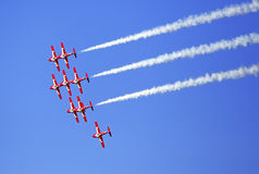 Snowbirds team at the Air Show at Gatineau Royalty Free Stock Photo