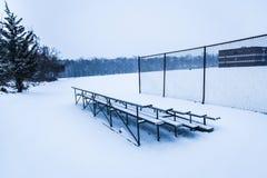 SnowBleachers Stockfoto