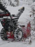 Snowblower το χειμώνα Στοκ φωτογραφίες με δικαίωμα ελεύθερης χρήσης