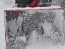 Snowblower в зиме Стоковое фото RF