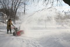 snowblower действия Стоковые Фото