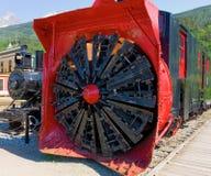 Snowblower на старом поезде на skagway Стоковые Фото