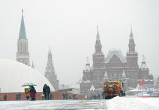 Historical museum and Red Square in winter Stock Photo