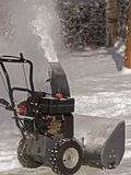Snowblower In Action Stock Photography