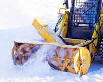 Snowblower. Removes snow from the tracks Stock Image