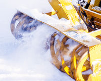 Snowblower. Removes snow from the tracks Stock Photography