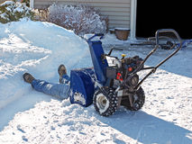 Snowblowing Stock Image