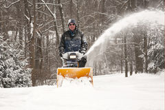 Snowblowing Royalty Free Stock Photos