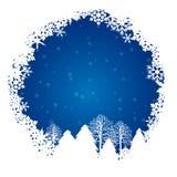 Snowbluecirkel Royaltyfri Bild