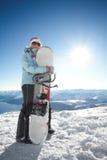 snowboard девушки стоковое изображение