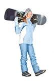 snowboard девушки Стоковые Изображения RF